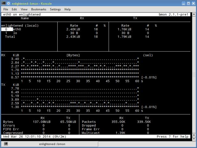 bmon linux network monitor