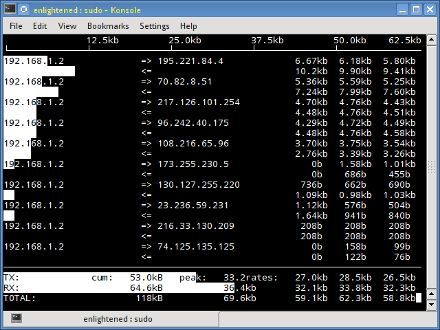 iftop command linux