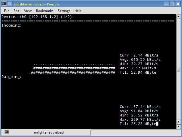 nload command linux